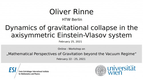 Preview of Oliver Rinne - Dynamics of gravitational collapse in the axisymmetric Einstein-Vlasov system