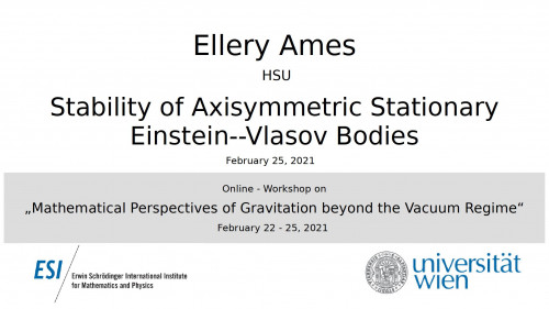 Preview of Ellery Ames - Stability of Axisymmetric Stationary Einstein--Vlasov Bodies
