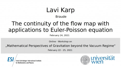 Preview of Lavi Karp - The continuity of the flow map with applications to Euler-Poisson equation